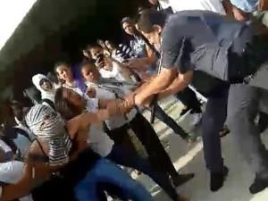 Confusão entre estudantes e policiais militares foi registrada em Marília (Foto: Divulgação)